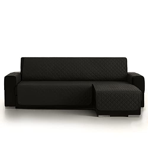 Lanovenanube - Funda Chaise Longue Acolchado - Práctica - Reversible 200 cm - Color Negro C11