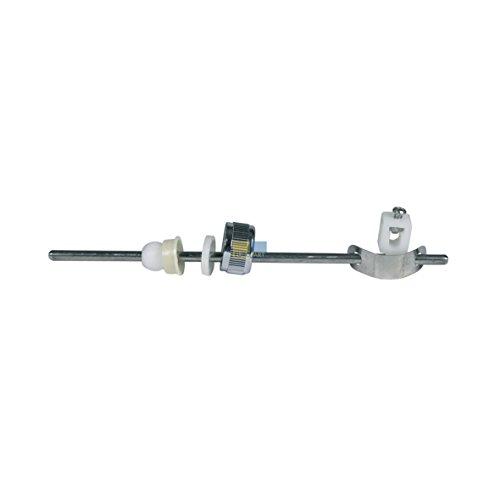 Exzenterstange Zugstange Abflussventilstange 5mm waagerecht 180mm für Ablaufgarnitur Abflussgarnitur Armatur Waschbecken
