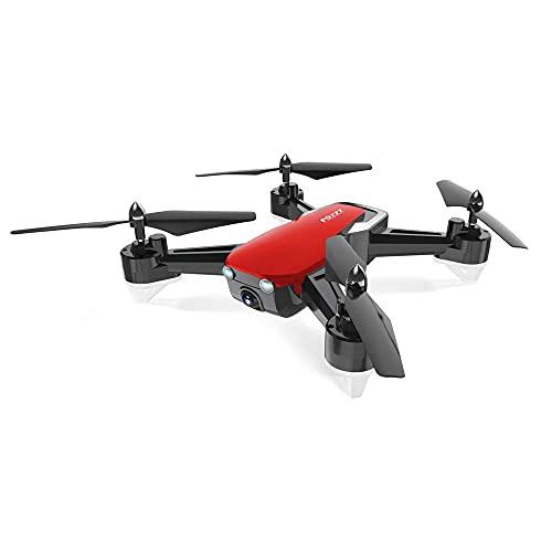 ZHCJH FQ777 FQ40 DRON 2.4G 640P 720P Nessuna videocamera WiFi HD Camera Drone Hover RC Elicottero Quadcopter Droni con videocamera HD Rosso Senza videocamera Regali per Bambini