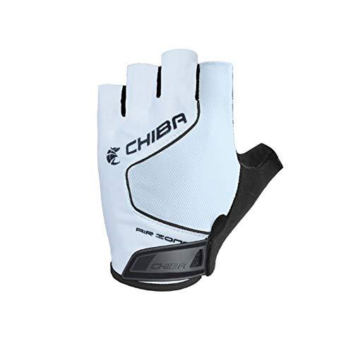 Chiba Cool Air Evolution Fahrrad Handschuhe kurz weiß 2019: Größe: XL (10)
