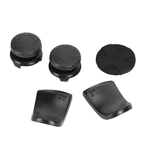 Joystick-Kappen, 5-Zoll-1-Daumen-Stick-Griffkappe, LI R2-Trigger-Extender, rutschfest, Material ABS und Silikon, langlebig für PS5-Controller(schwarz)