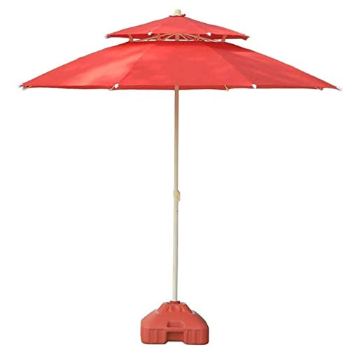 REWD Outdoor Patio Umbrellas Parasols 7.5ft/230cm Outdoor Patio Garden Table Umbrella with Push Button Tilt for Outdoor Yard, Beach Commercial Event Market, Camping, Pool Side Windproof