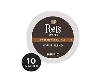 Peet's Coffee House Blend Dark Roast Coffee K-Cup Coffee Pods (10 Count)