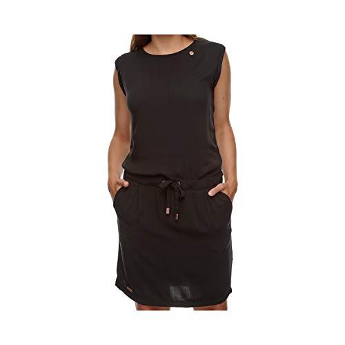 Ragwear Kleid Damen MASCARPONE 2111-20018 Schwarz 1010 Black, Größe:XL