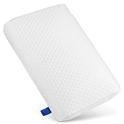 WELLRELAXX Nackenstützkissen 60x40x13cm - Premium Qualität Made in der EU - Orthopädisches Kissen für Nackenschmerzen mit waschbarem Kissenkern - Nackenkissen für ruhigen und erholsamen Schlaf