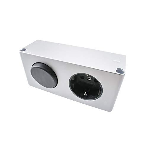 Yu Yang Steckdosen-Box 30 DE mit Schalter TÜV geprüft Energiebox Steckdose (10W Spiegelschrank Kombi-Box für dem Möbeleinbau, 230v auf 12v LED, DE)