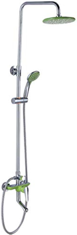 GZF mischbatterie für Dusche,Dusche-Set, einfach und modern, Kupfer, Porzellan Dreigang-, Multifunktions, hei und kalt Dusche Wasserhahn