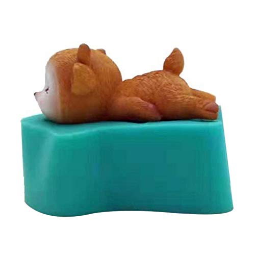 Wisson Molde de la Vela, Molde Lindo del Chocolate 3D de la Torta del silicón de la categoría alimenticia de los Ciervos de Sika para la decoración de la Torta de los Artes de DIY