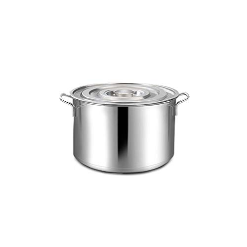 Large Deep Stainless Steel Induction Stock Pot Casserole Stockpot,Professional Induction-Safe Stainless Steel Stock Pot with Lid-Perfect for Soups (Size : 30 * 20cm) KaiKai (Size : 30 * 20cm)