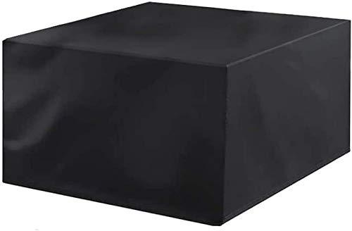 Fundas para Muebles de jardín Impermeables 126x126x72cm, Rectangular Impermeable, Anti-UV, Cubierta de Juego de Patio a Prueba de rasgaduras, para Patio, Exterior, Protector de Muebles de ja