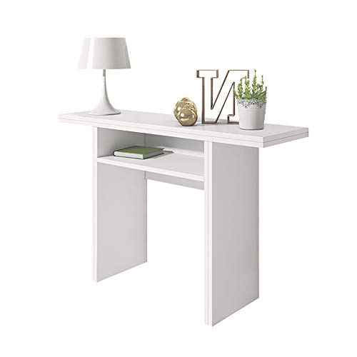 Selsey Italia Console dappoint/Table Extensible, Bois, Blanc, 120 x 35/70 x 76