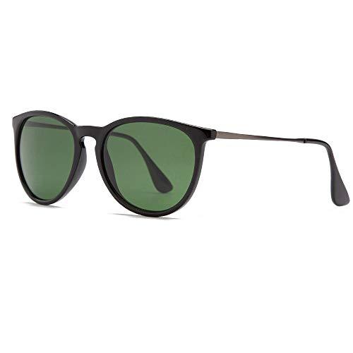 XCLWL Oogkleding Ronde Zonnebril Vrouwen Mannen Glas Lens Spiegel Zonnebril Volwassene Oogkleding