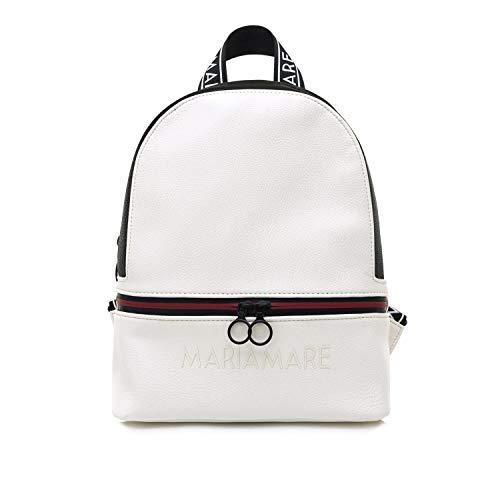 MARIA MARE Mariamare OKELANI, Bolso mochila para Mujer, Blanco (BOMBO BLANCO/NEGRO), 12x29x27 cm (W x H x L)