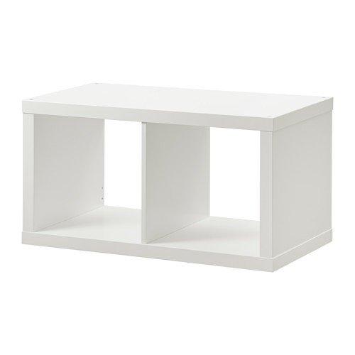 Ikea KALLAX estantería Pared Blanco; 77 x 42 cm