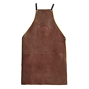 OLSON DEEPAK Leather Welding Work Apron 17