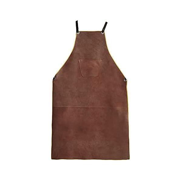 OLSON DEEPAK Leather Welding Work Apron 1
