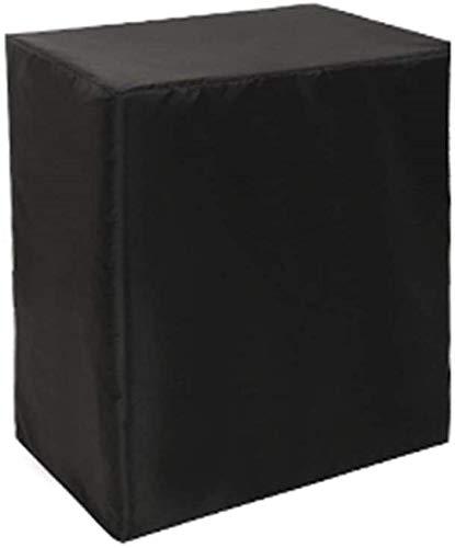 dfff Cubo Cubiertas para Muebles de jardín Cubierta para Muebles de Exterior Cubierta Impermeable de ratán Lona Rectangular, 30 tamaños (Color: Negro, Tamaño: 100x100x85cm)