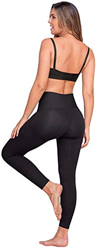 Leonisa high Waisted Compression Leggings for Women Butt Lifting Anti Cellulite Black