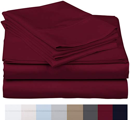 """600 Thread Count 100% Long Staple Soft Egyptian Cotton SheetSet, 4 Piece Set, QUEEN SHEETS,upto 17"""" Deep Pocket, Smooth & Soft Sateen Weave, Deep Pocket, Luxury Hotel Collection Bedding, WHITE"""