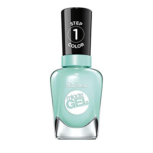 Sally Hansen Miracle Gel Nagellack ohne künstliches UV-Licht B Girl, Türkis, mit intensiv glänzendem Gel-Finish, Nr. 240, (1 x 14,7 ml)