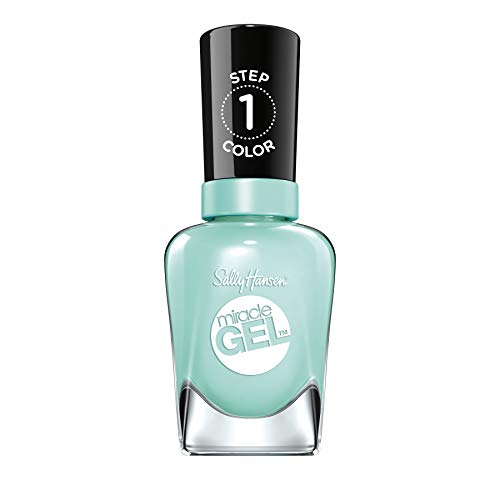 Sally Hansen Miracle Gel Nail Polish At-home gel manicure, 24 B Girl, Cool Green Shades - 14.7 ml
