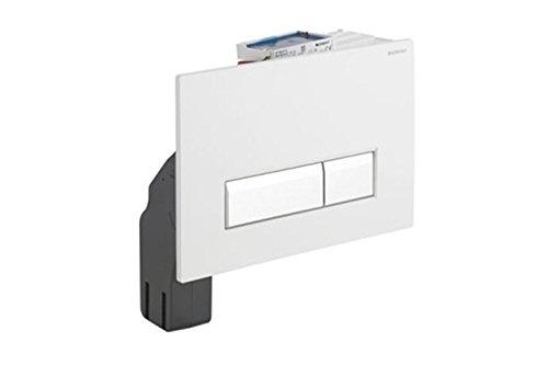 Geberit 115600SI1 Abdeckplatte SIGMA 40 115.600.SI.1 2-Mengenspülung, weiss/Aluminium gebürstet