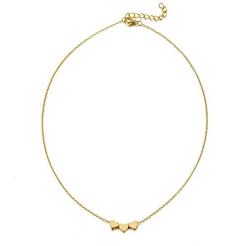 LKJH Hanger ketting bohemien vrouwelijke double-layer ketting retro gouden gesneden munt ketting sieraden nieuwe 2020 (Metal Color : ZL0000666 1)