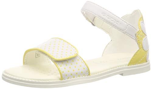 Geox Kids Girl's Sandal Karly Girl 30 (Little Kid/Big Kid) White/Yellow 35 (US 3.5 Big Kid)
