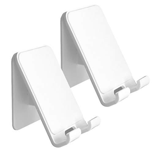 VILLCASE 2Pcs Adesivo de Parede Suporte para Telefone Prateleira de Montagem Em Parede Suporte de Suporte de Parede Flutuante Organizador de Armazenamento para Sala de Cozinha