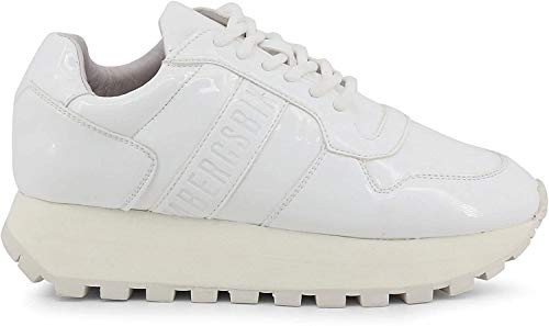 BIKKEMBERGS Scarpe Basse Sneakers Donna Bianco (Fend-ER_2087-PATENT)