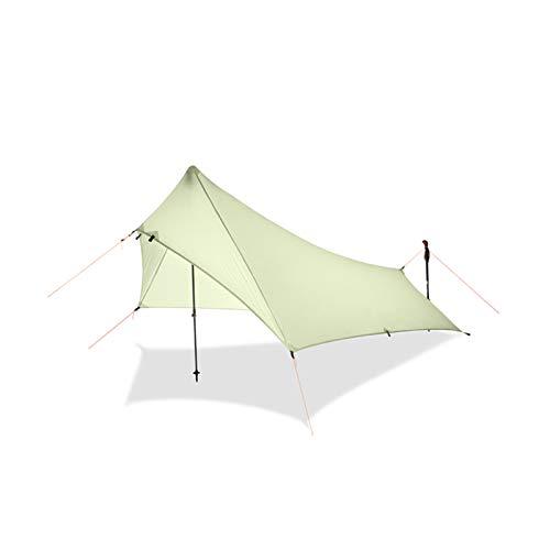 XXY Ultra Light Lluvia Mosca Tienda Tarpa, Revestimiento De Silicona Impermeable Nylon Camping Cantidad Costople Rainfly, Lona Ligera (Color : Gray)