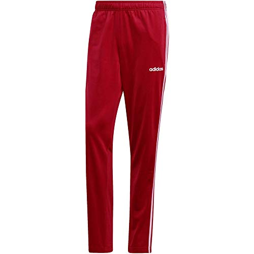adidas Herren Sport Trousers Essentials 3 Stripes Tapered Pant Tricot, Active Maroon/White, M, EI4886