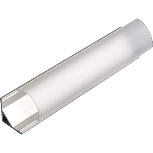 KIT de 4 x 1 mètre P9 Profilé en aluminium ARGENT pour les bandes LED avec couvercles transparents, bouchons et clips de fixation