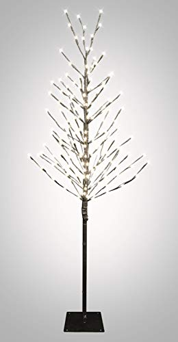Northpoint LED-Lichtbaum für Indoor & Outdoor | Schwarz | 150cm | inkl. Timer | 200 LEDs