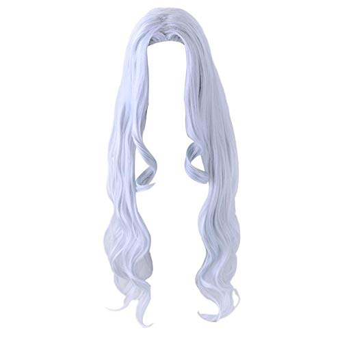 Peluca de cosplay para Eri para Boku no Hero Academia  My Hero Academia Cosplay gris-azul largo rizado pelo anime Cosplay peluca