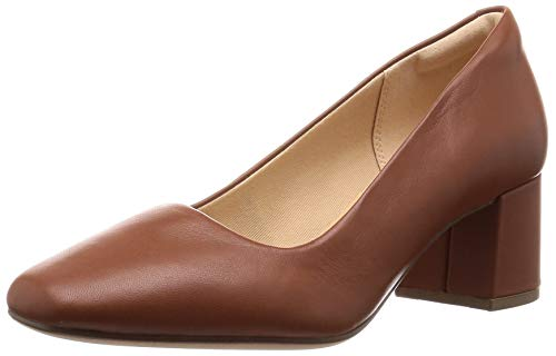 Clarks Damen Sheer Rose Pumps, Braun (Tan Leather), 38 EU