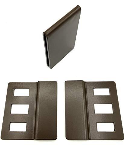ERABOS® Fenstergriffsicherung FZ300   PATENTIERTE Fenstersicherung OHNE bohren   2mm Stahl   braun   Profi-Einbruchschutz