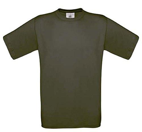 Shirtinstyle Tee-Shirt Exact 190 Basics Chemise Col Rond Couleurs Diverses B&c S-XXL - Kaki, XXL