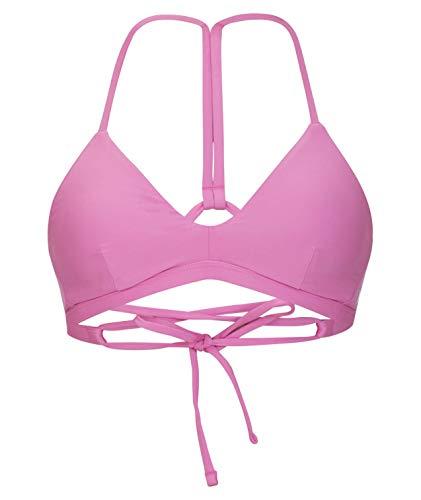 Hurley W Adjustable Surf Top Partes De Arriba Bikini, Mujer, Solar Red, S