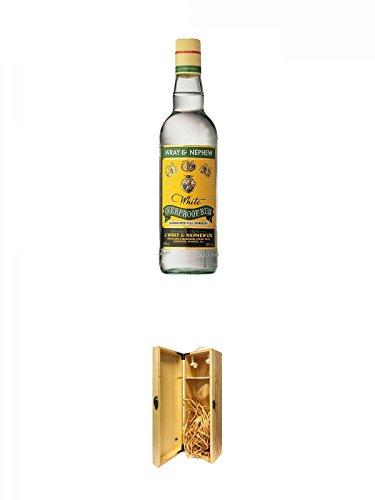 Wray & Nephew (Appleton) White Overproof Rum 63% Jamaika + 1a Whisky Holzbox für 1 Flasche mit Hakenverschluss
