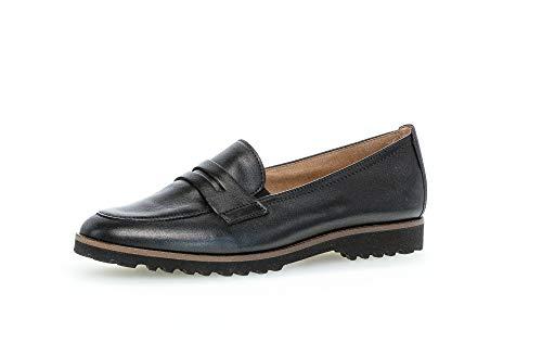 Gabor Damen Mokassins, Frauen Slipper,Best Fitting, schlupfhalbschuh Slip-on College Schuh businessschuh Lady,schwarz (Cognac),37 EU / 4 UK