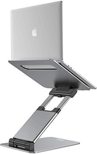 NULAXY Laptopstandaard: ergonomische notebookstandaard, verstelbaar, hoogte van 5,5 cm tot 21 inch, ondersteunt tot 22 pond compatibel met MacBook, alle laptops tablets 10-17 (grijs)