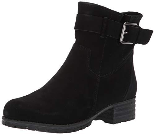 Clarks Women's Marana Amber Fashion Boot, Black Suede, 085 M US