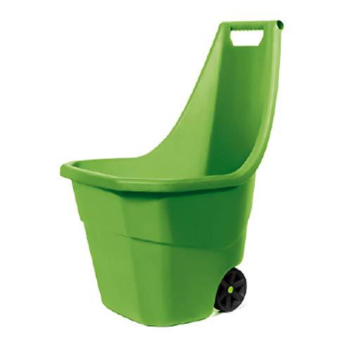 Mojawo Schubkarre Gartenkarre Gartentrolley Laubwagen Gartenwagen Gartenkarre Handwagen 55Liter Olive