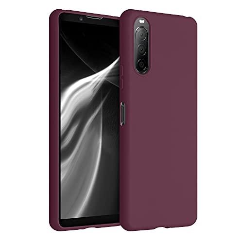 kwmobile Hülle für Sony Xperia 10 II - Hülle Handyhülle - Handy Hülle in Bordeaux Violett