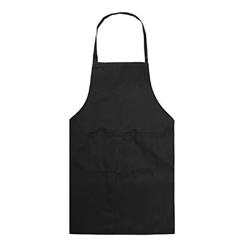 Lilon Grembiule da cucina, in tinta unita, con bavaglino regolabile, per uomini e donne, per cucina, ristorante, chef, classico