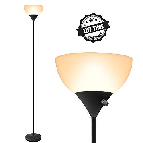Floor Lamp - LED Floor Lamp, 70inch Modern Standing Lamp, 9W Energy Saving, 40000h Long Lifespan, 3000K Warm White, Eye-Caring, Torchiere Floor Lamps for Bedrooms, Living Room, Office, Reading