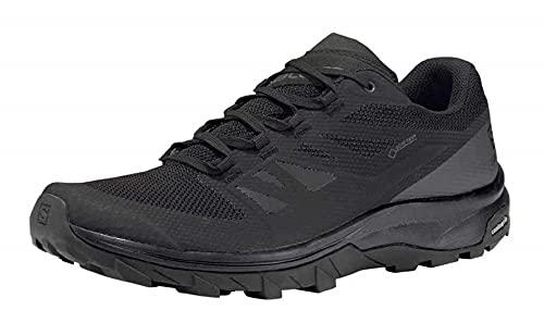 Salomon Men's OUTline GTX Hiking Shoes, Black/Phantom/Magnet, 9.5