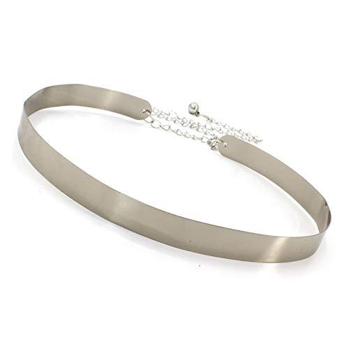 Cinturón Moda Cinturón de la lentejuelas de la lentejuelas del cinturón del vintage occidental para las mujeres Damas Decoración de la decoración Cinturón de la cadena de vestir de oro salvaje