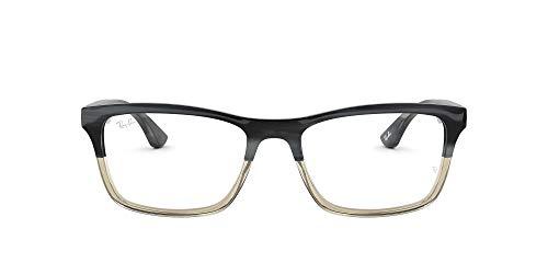 Ray-Ban 0rx 5279 5540 55 Monturas de gafas, Grey Horn Grad Trasp Grey, Hombre